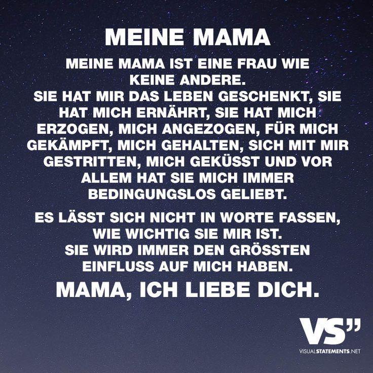 Meine Mama. Meine Mama ist eine Frau wie keine andere. Sie