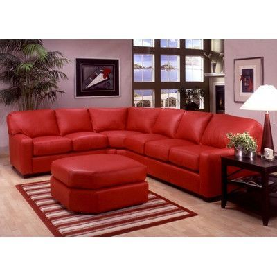Omnia Leather Albany Sectional in 2019 | Leather sectional ...