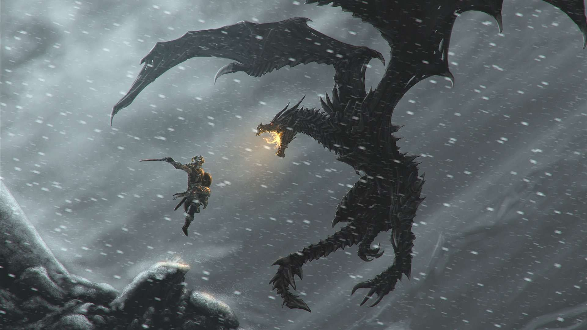 The Elder Scrolls V Skyrim Dragonborn Hd Wallpaper 1080p Skyrim