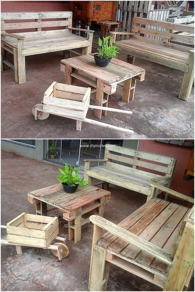 wooden pallet patio furniture. Create Something Amazing With Used Wood Pallets. Pallet Patio Furniture Set Wooden R