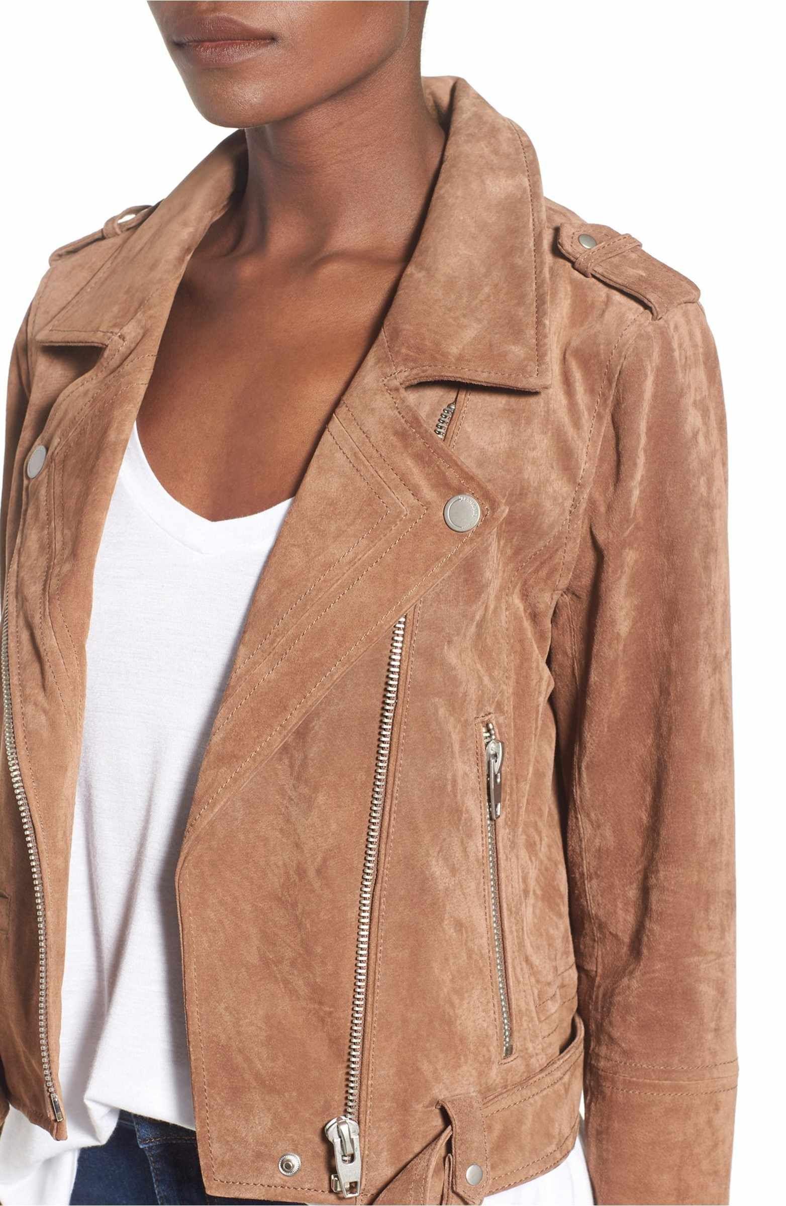 BLANKNYC Morning Suede Moto Jacket Suede moto jacket