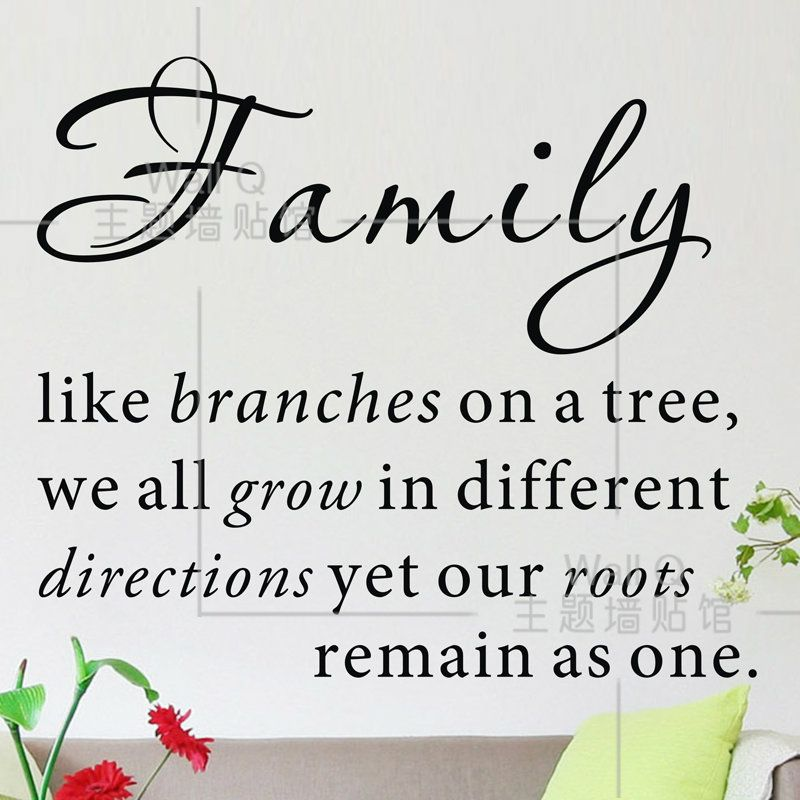 Quotes About Family Do it ] Family like branches on a