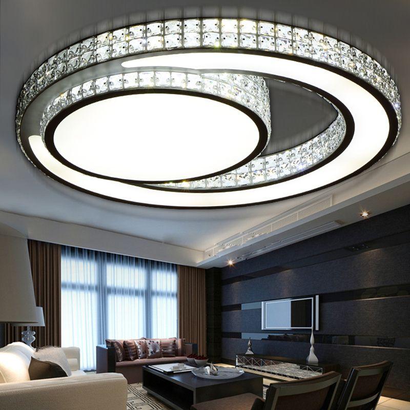 Cristal Led Plafonniers moderne Plafond Lampe pour Salon Chambre ...