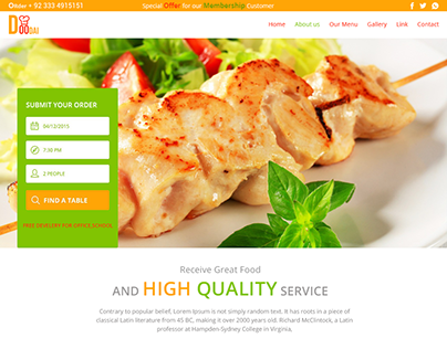 "Check out new work on my @Behance portfolio: ""Doodai Food Website Template"" http://be.net/gallery/35127661/Doodai-Food-Website-Template"