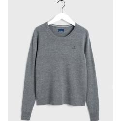 Gant Superfeiner Lambswool Sweater (Grau) Gant – Business outfits