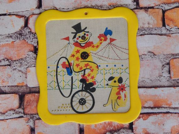 Vintage Circus Kids Room Decor // Small Clown by ...