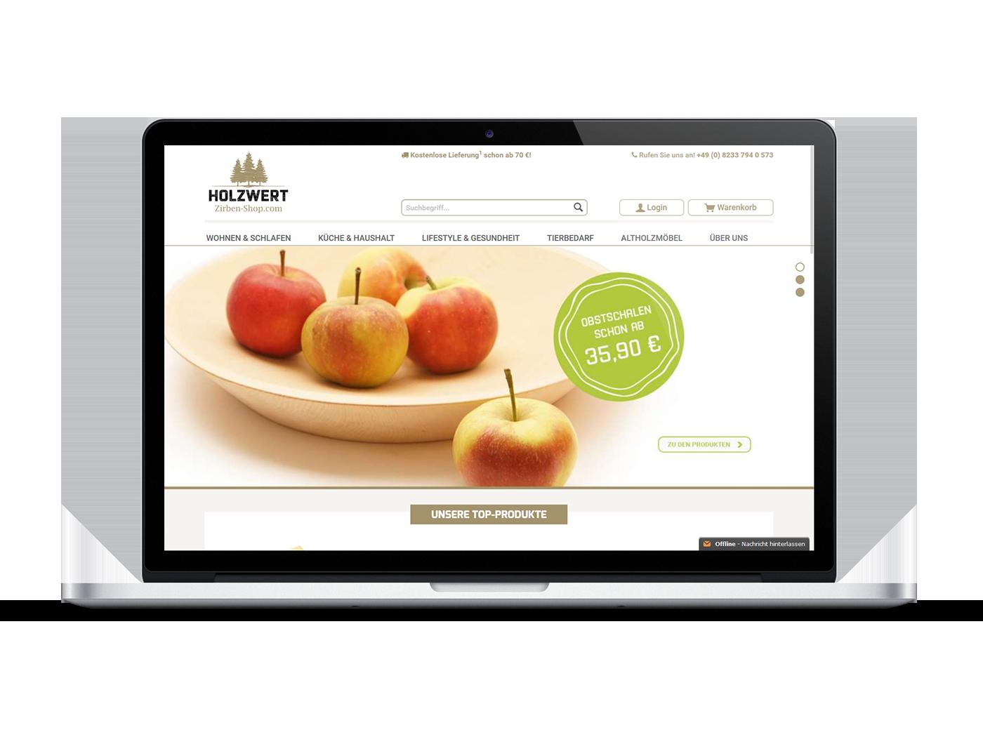 Design & Programmierung eines Onlineshops auf Basis von Shopware ...