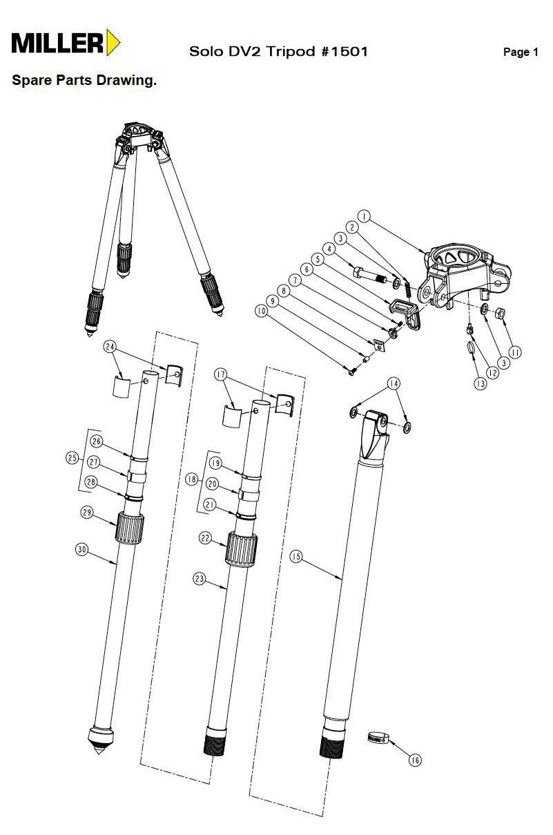 miller tripod parts google search camera and film tripods and rh pinterest com camera tripod diagram tripod stand diagram and uses