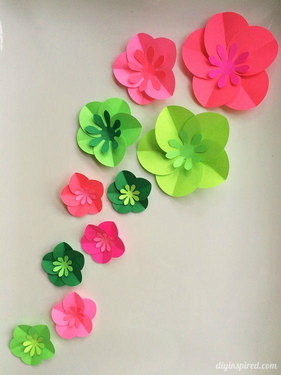 Easy diy paper flowers tutorial easy paper flowers - Simple handmade paper flowers ...