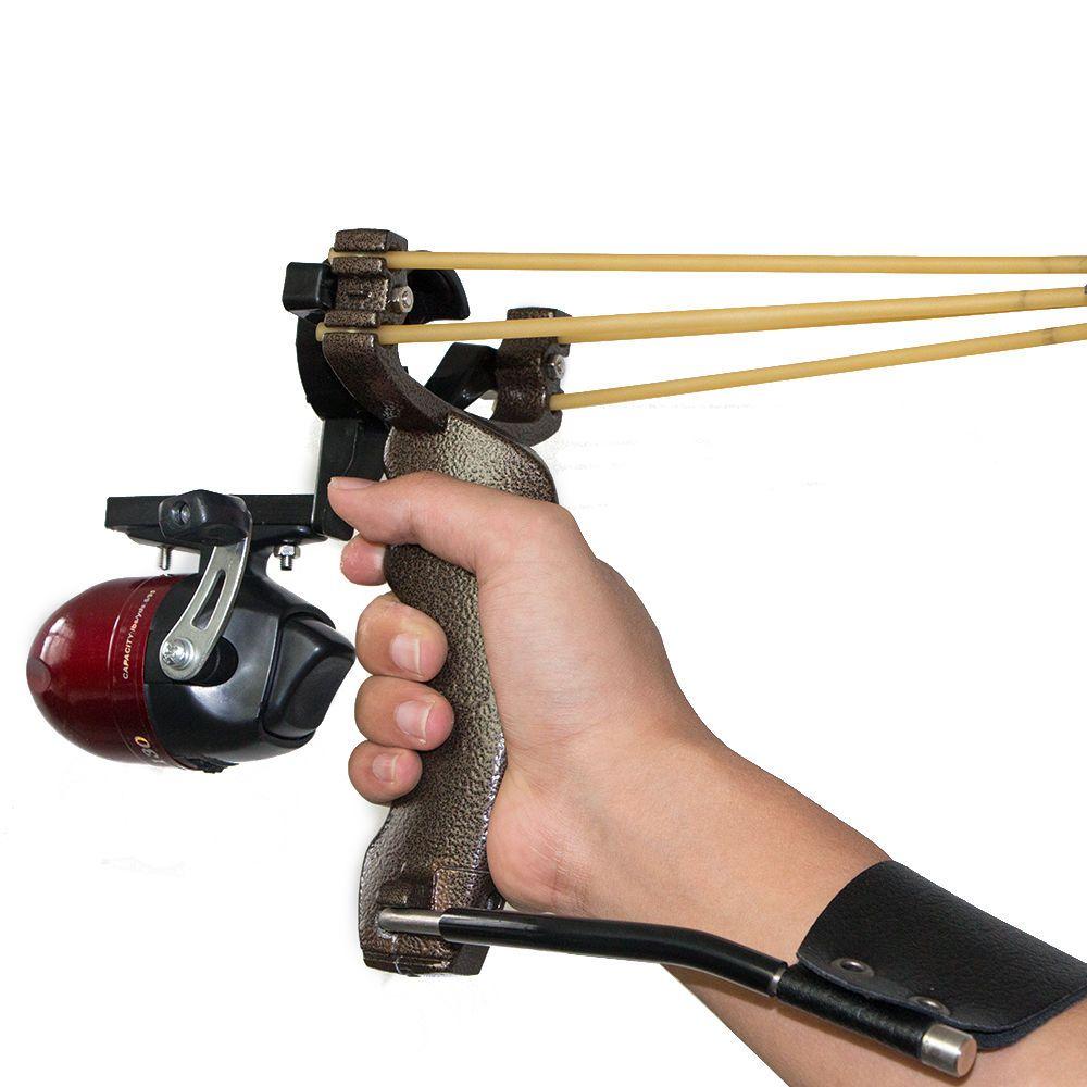 Arco pesca catapulta con 6 un Pesca Caza De Flecha De Carbono bowsling
