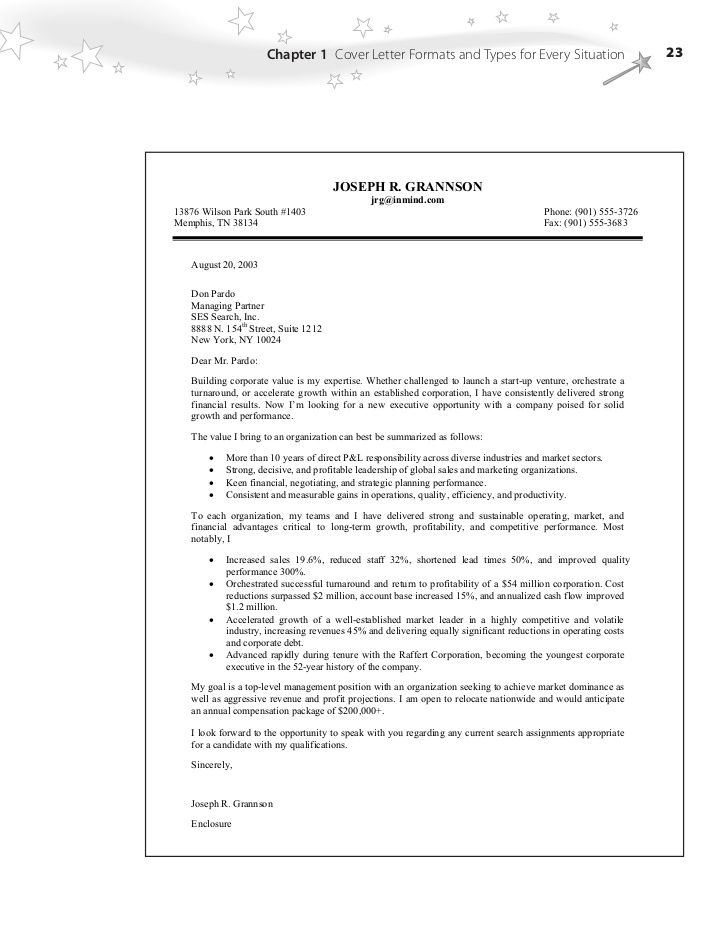 Cover letter template with bullet points cover letter
