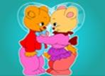Gli orsacchiotti hanno stampato la foto del loro matrimonio ma purtroppo c'è stato un errore ed è venuta in bianco e nero. Colorala tu e rendi felici i due innamorati.
