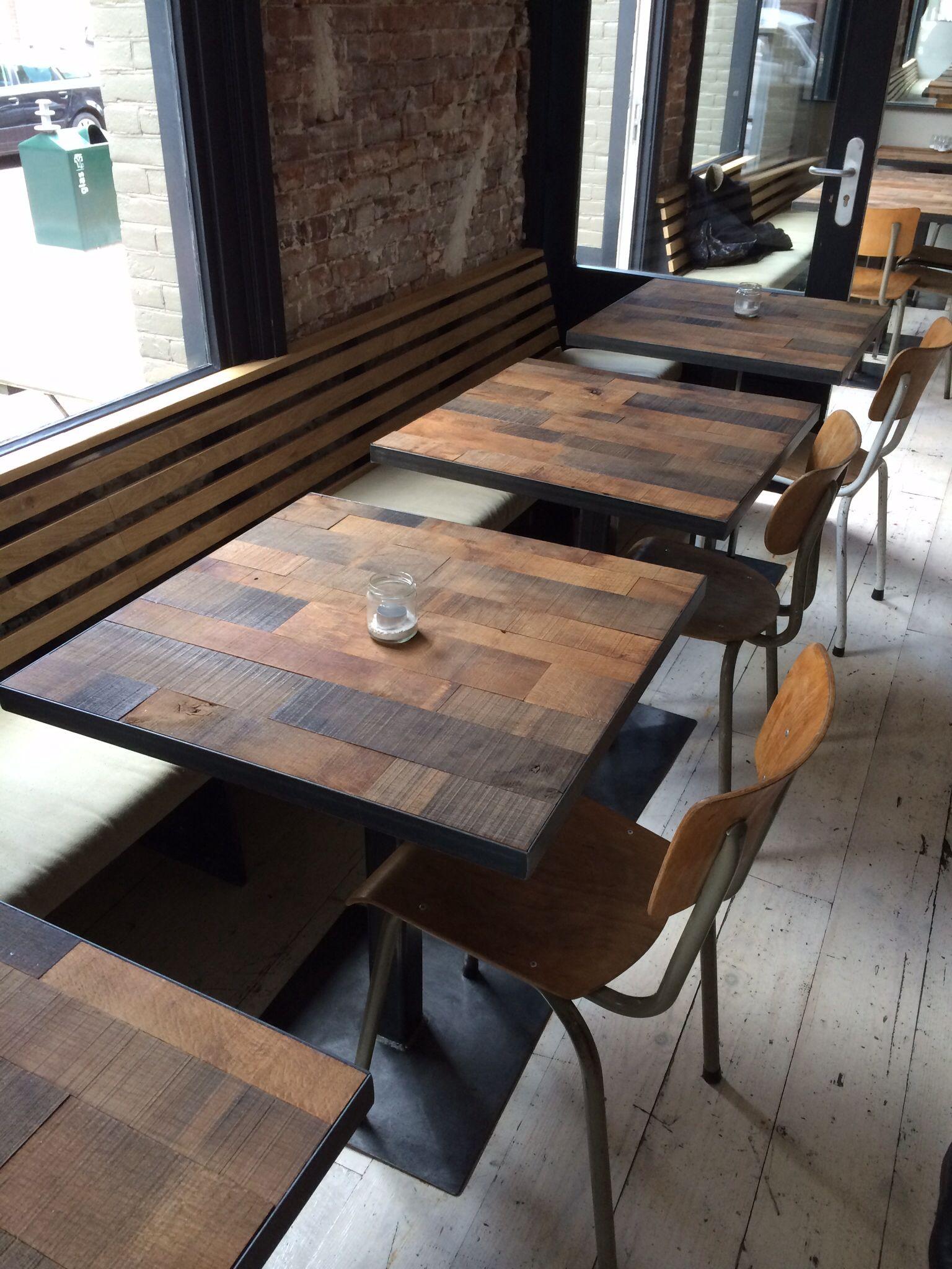 BISTRO TISCH Bistrotisch Imbiss döne Essentisch Holztisch
