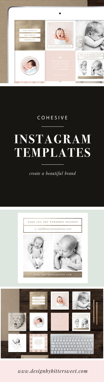 Photographer Instagram Templates - Social Media Post Designs - Lily ...