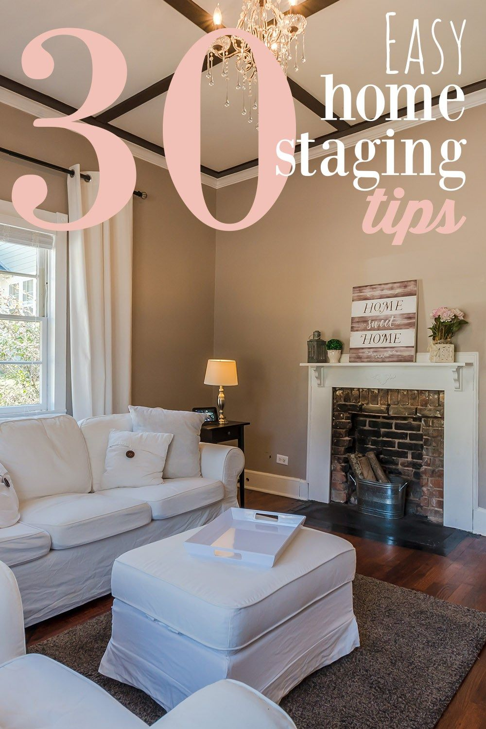 30 Easy Home Staging Tips to Sell Your House Fast | Pinterest | Easy Home Staging Tips on home selling tips, home stager, insurance tips, home color tips, home organizing, nate berkus painting tips, home maintenance tips, home management tips, landscaping tips, staging a home, home packing tips, real estate staging, home staging business, real estate tips, home real estate, home security tips, home decor tips, home black and white, home inspection tips, home audio tips, home remodeling tips, home tips and tricks, home construction tips, vacant home staging, home survival tips,