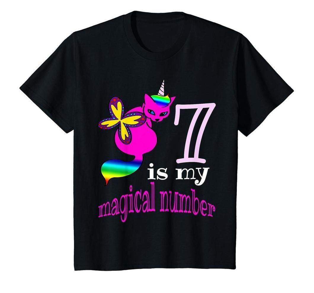 Kids Rainbow Butterfly Unicorn Cat 7th Birthday Shirt Kitty Lover Tshirts20200218 In 2020 Rainbow Butterfly Rainbow Kids Unicorn Cat