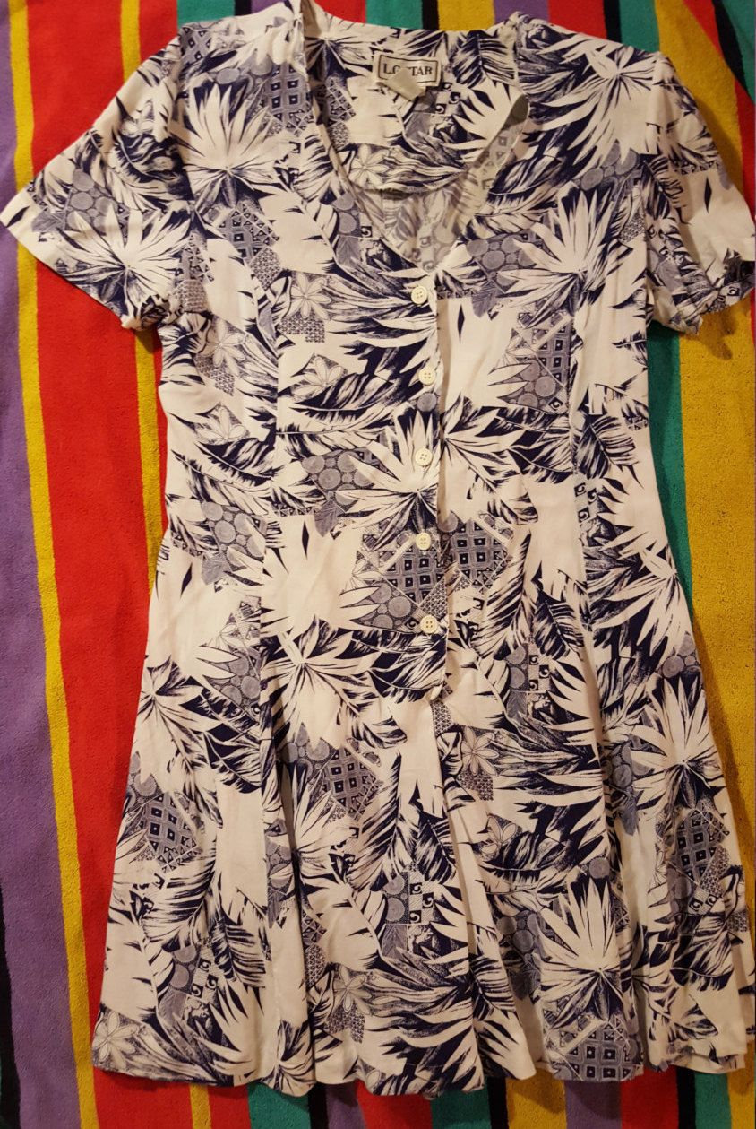 Size L XL Rayon Romper by UmbrellaVintage on Etsy
