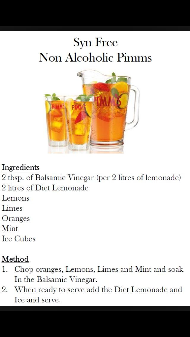Syn Free Non Alcoholic Pimms Food Pinterest Slimming