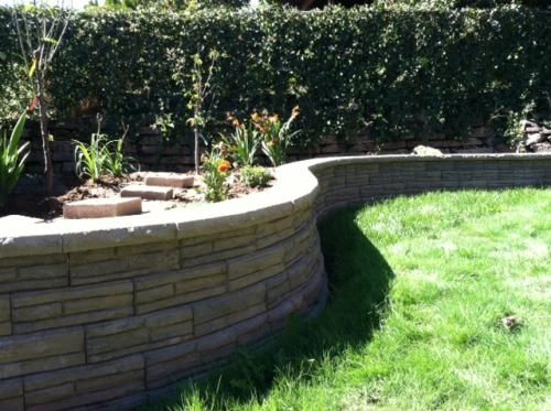 7 In X 12 In Natural Impressions Flagstone Concrete Wall Block 86935 The Home Depot Concrete Retaining Walls Concrete Wall Flagstone
