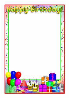 Happy Birthday A4 Page Borders Sb4931 Sparklebox