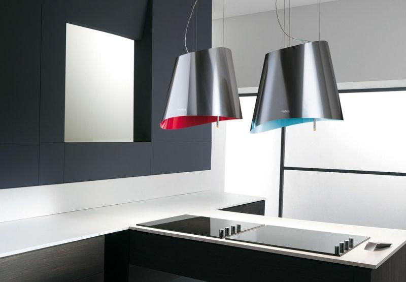 moderne Dunstabzugshaube Stahl-innen-Farben-Design-Modell - moderne dunstabzugshauben küche
