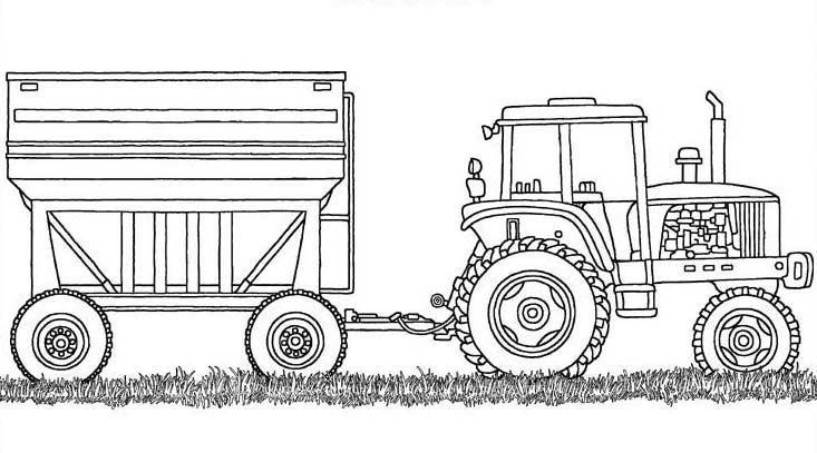 Farm Equipment Coloring Sheet