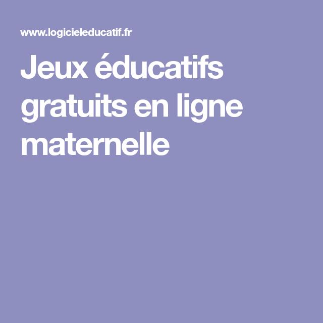 Jeux éducatifs gratuits en ligne maternelle | Jeu educatif ...