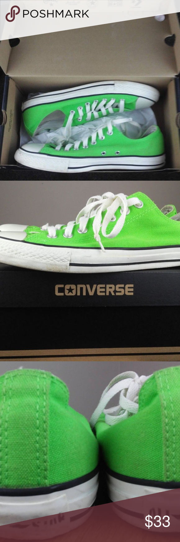 9441e60ed93f Converse Chuck Taylor Womens size 11 Neon Green Pre-owned but in excellent  condition.
