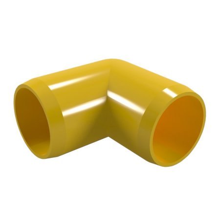 90 Degree Orange 1-1//4 Size Pack of 4 Furniture Grade FORMUFIT F11490E-OR-4 Elbow PVC Fitting
