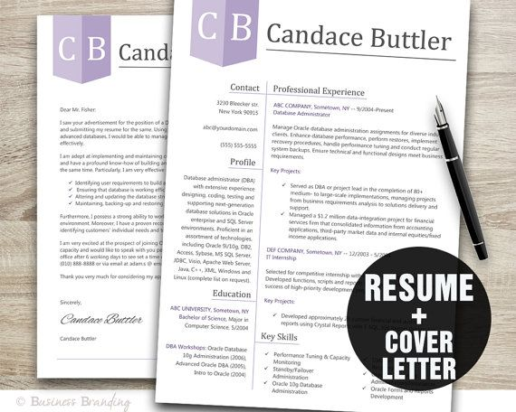 Instant Download Classy Resume Template  Resume And Cover Letter