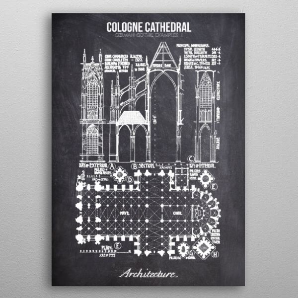 cologne cathedral by FARKI15 DESIGN | metal posters - Displate | Displate thumbnail