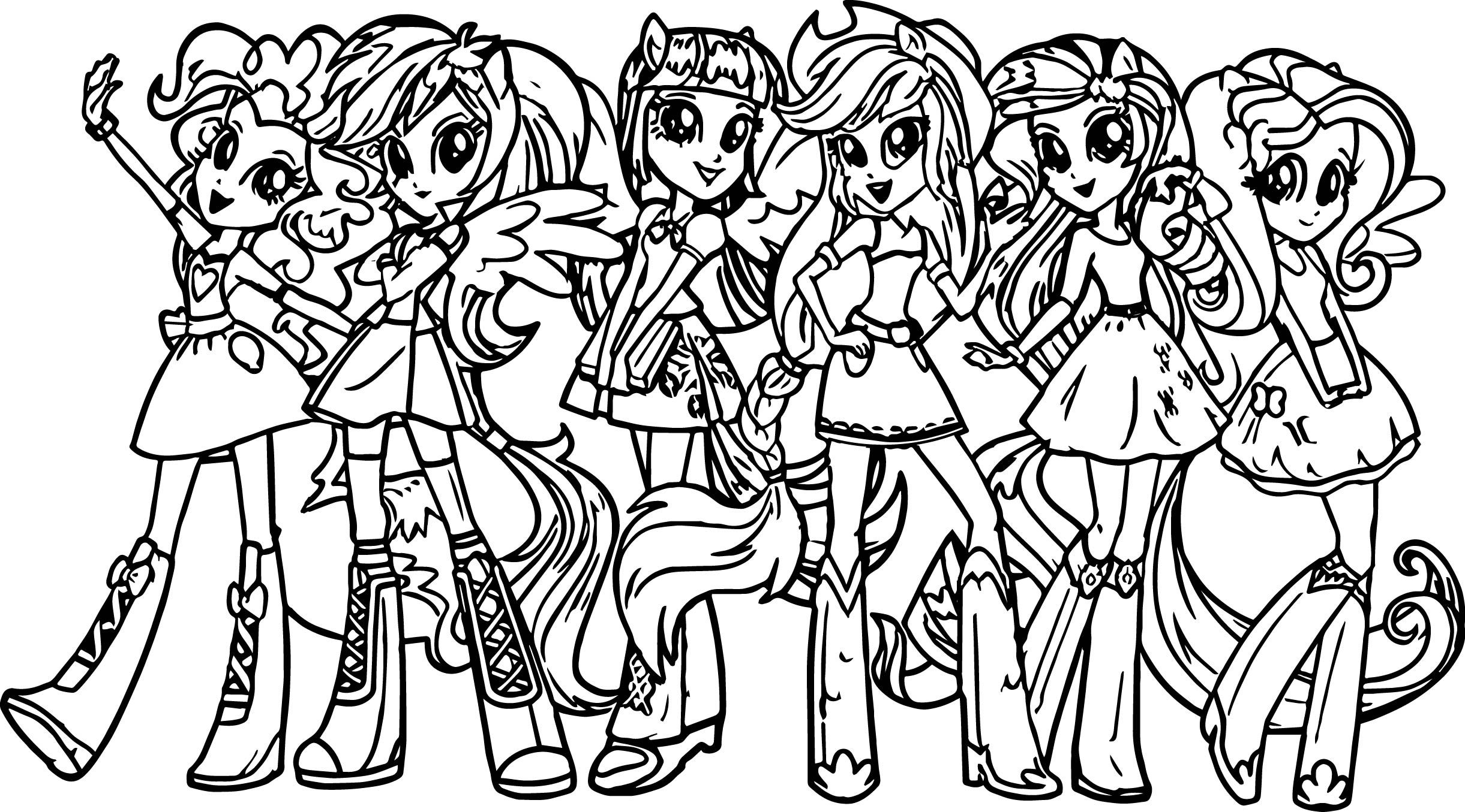 My Little Pony Girls Coloring Page My Little Pony Coloring My