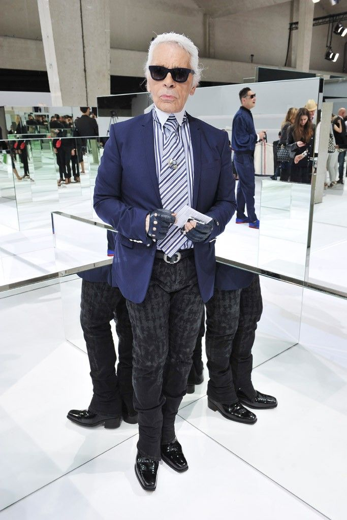 b00bf66973 Karl Lagerfeld Front Row at Dior Homme