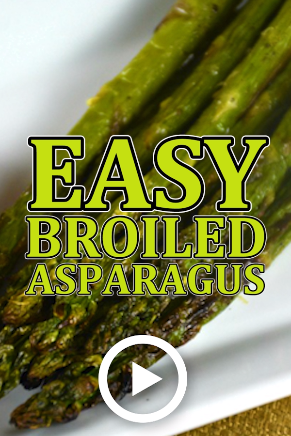 Easy Broiled Asparagus is part of Cheap dinner recipes, Easy cheap dinners, Veggie dishes, Asparagus recipe, Baked chicken recipes, Hot drinks recipes - This is the quickest and easiest way we have found to serve perfect asparagus every time  Easy Broiled Asparagus can be served with anything and everything!