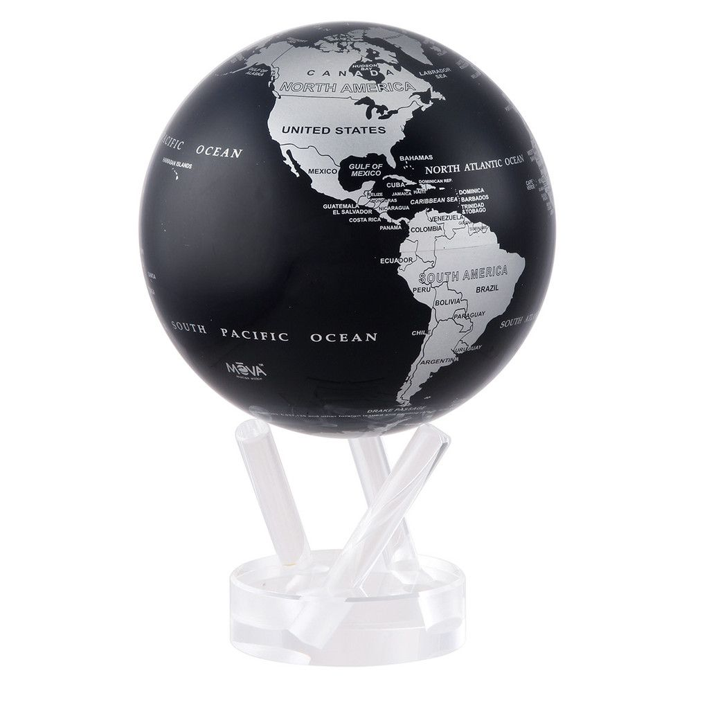 Mova globe silver blue metallic map globe and products mova globe silver blue metallic map gumiabroncs Images