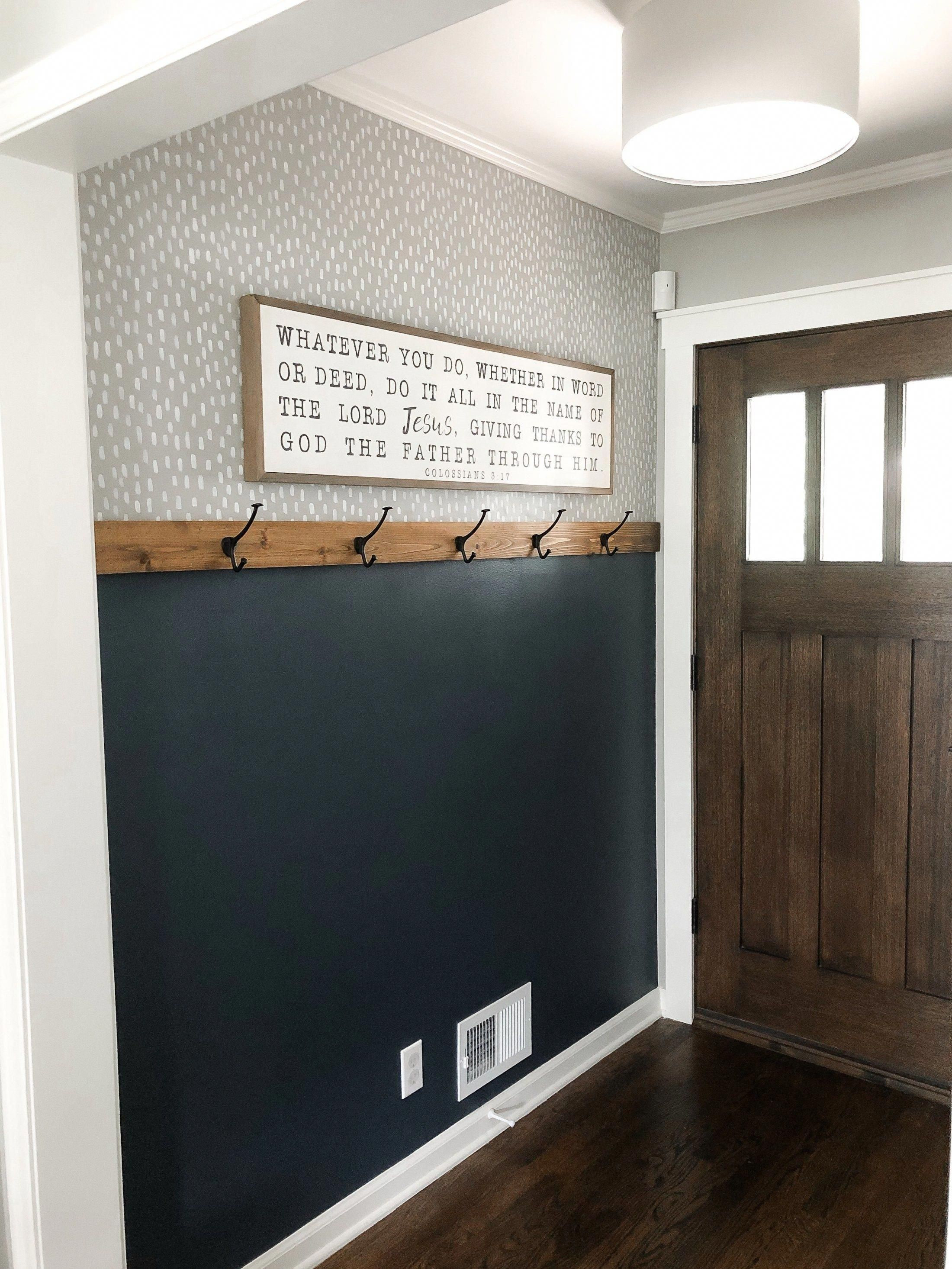 DIY Easy Entryway Makeover with Paint! • Mindfully Gray