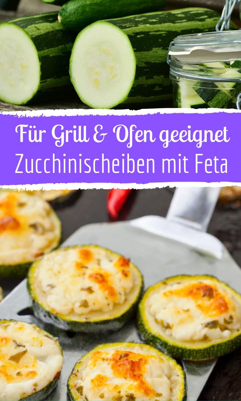 Gegrillte Zucchinischeiben mit Feta