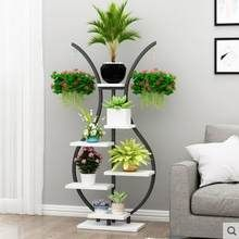 New type of living room household flower shelf, multi-storey indoor special price space balcony decoration shelf, iron pot shelf