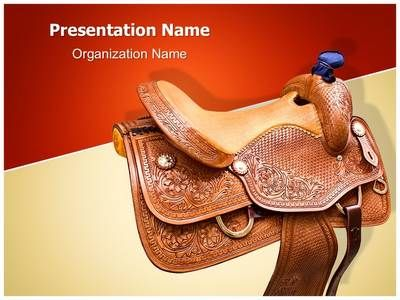 Horse Saddle Powerpoint Template Is One Of The Best Powerpoint