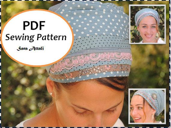 How To Sew Your SINAR TICHEL Apron Tichel Pattern Hair Snood Head ...