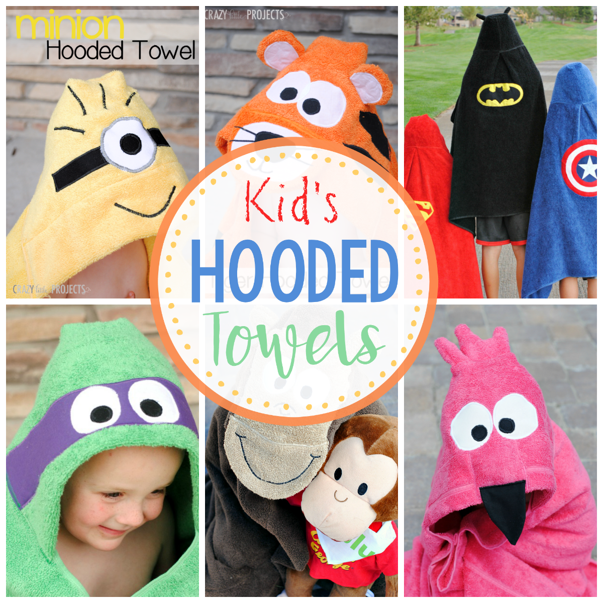 Superhero Hooded Towel Tutorials With Images Towels Kids Kids