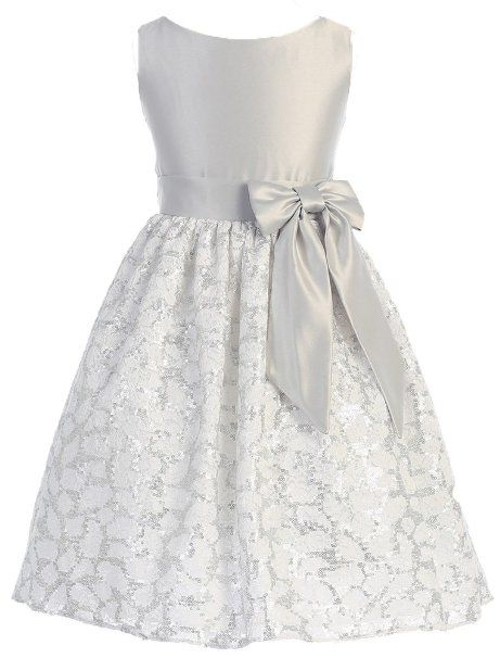 f20dfd30573 Amazon.com: Girls Sweet Kids New Sequin Floral Lace and Satin Flower ...