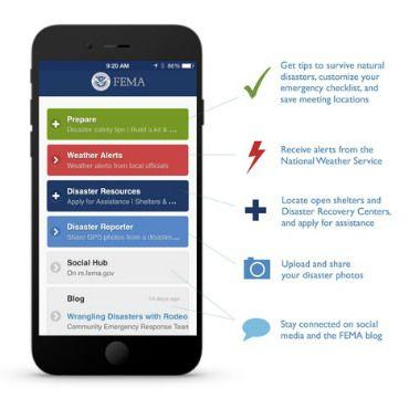 FEMA's weather alert app, Weather alerts, Federal