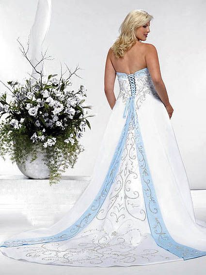 Plus Size Wedding Dresses Cheap Informal Unique Discount Blue Wedding Dresses Wedding Dresses Trendy Wedding Dresses