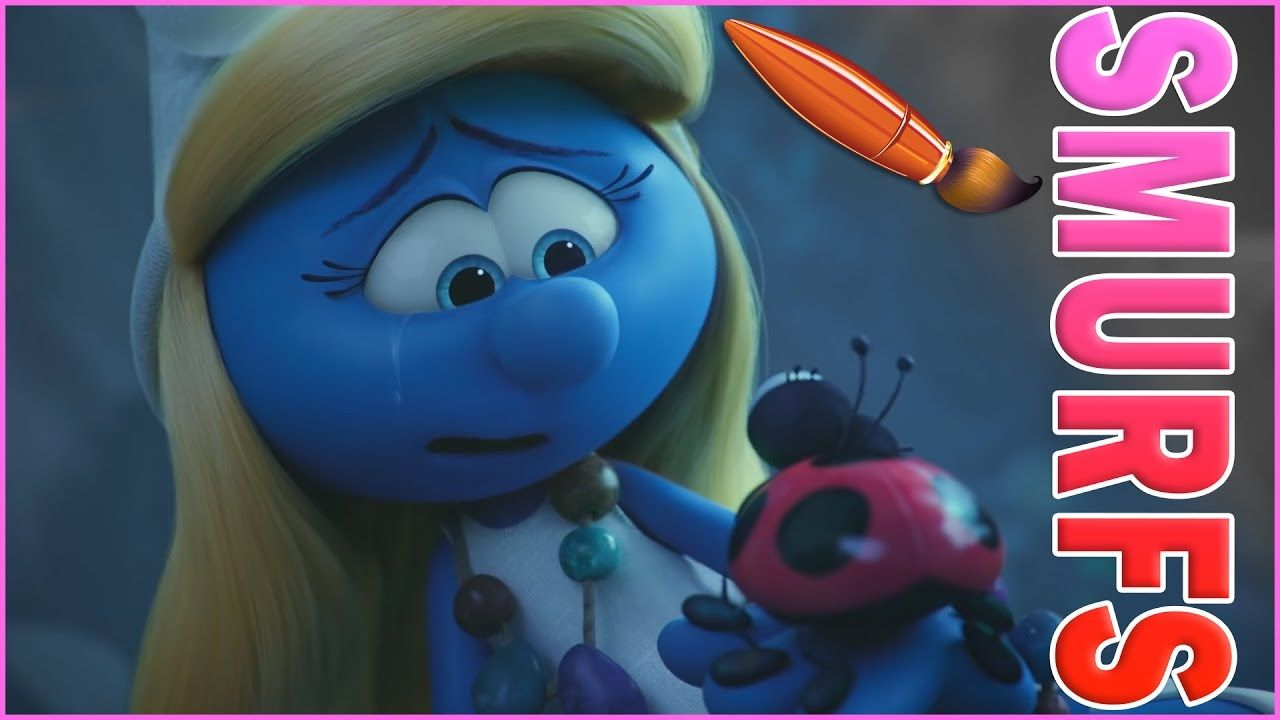 Coloring Smurfs Lost Village Kids Book Pages