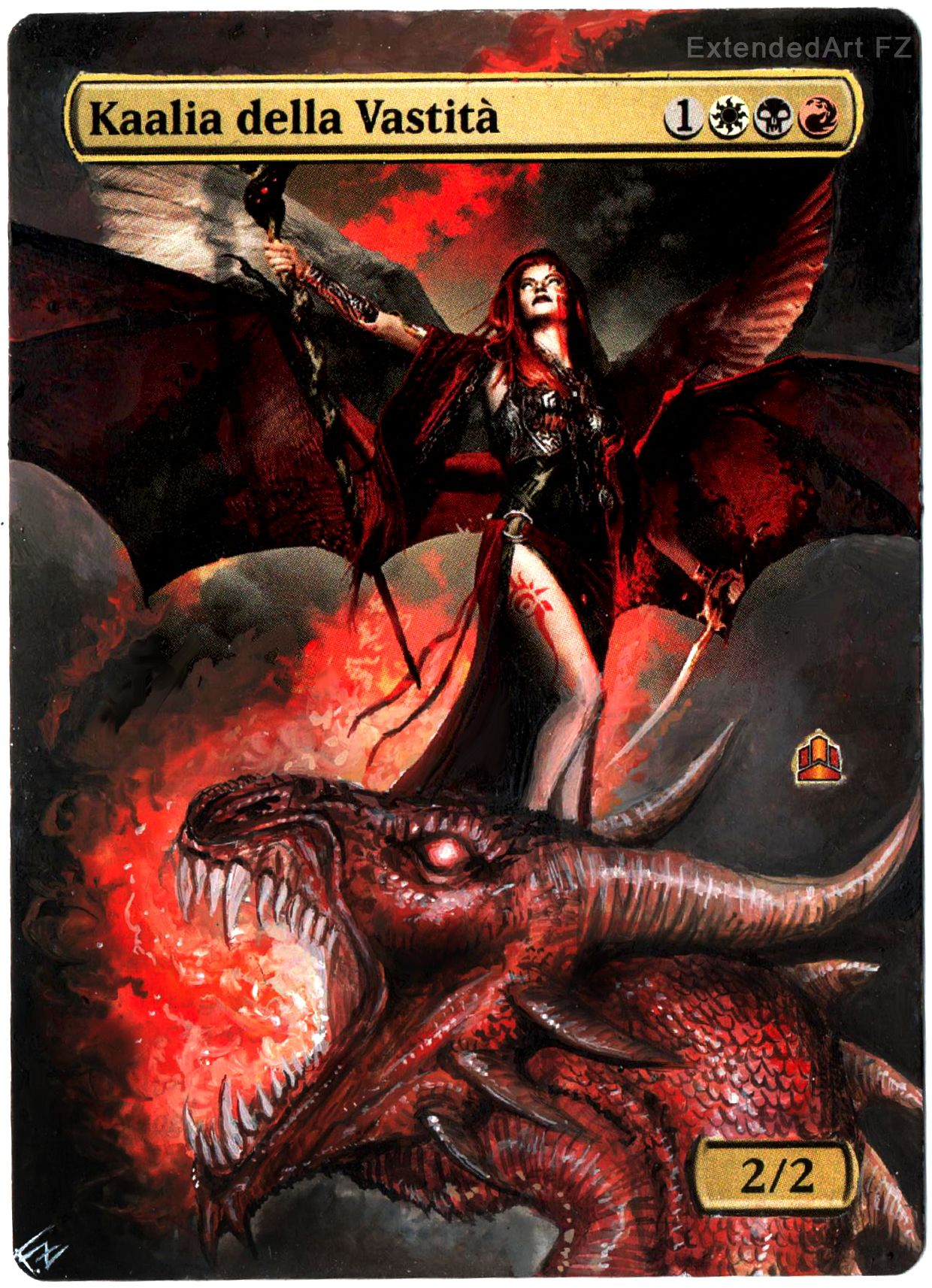 Kaalia Of The Vast Artwork Dragon By Fz Magic The Gathering