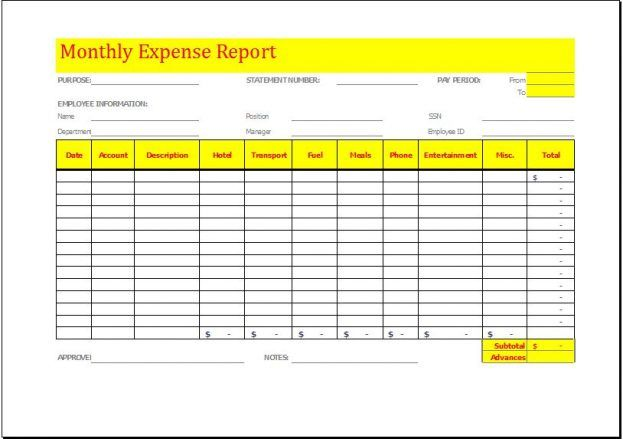 Business Expense Report And Expense Tracking Sheet An Image Part
