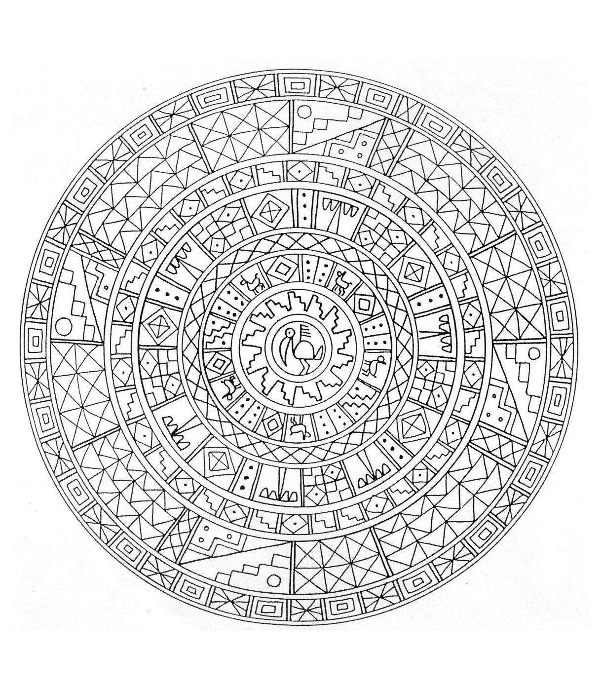 Hard mandala coloring pages for adults - To Print This Free Coloring Page Coloring Mandala Difficult 6