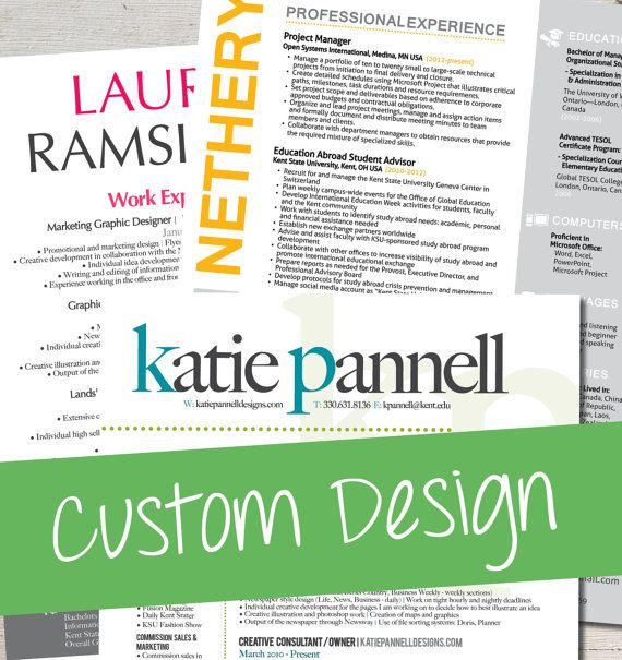 Custom Resume Design - COMPLETE CUSTOM DESIGN Work Pinterest - complete resume