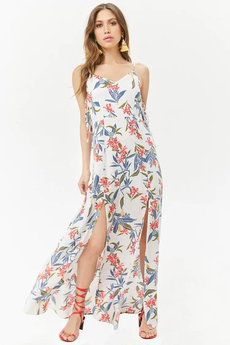 7af090b2a1 Product Name:Floral M-Slit Cami Maxi Dress, Category:dress, Price:48